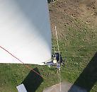 Prüfung und Wartung mittels Seilzugangstechnik